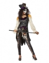 Déguisement  de sorcière Vaudou, Noir (veste, haut, leggings, chapeau et collier)