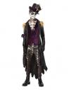 Déguisement de sorcier vaudou, Noir et violet (veste, haut, chapeau et collier)