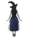 Déguisement Sorcière de minuit DELUXE (robe, broche holographique 3D, ceinture et chapeau)