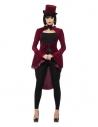 Veste queue-de-pie en velours femme vampire