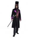 Déguisement comte gothique (longue veste avec gilet jabot attaché et chapeau haut de forme)