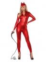 Combinaison femme dominatrice sexy, rouge