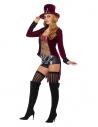 Déguisement de sorcière vaudou (veste, corset, short, chapeau et collier)