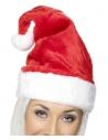 Bonnet père Noël velours rouge Deluxe