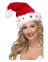 Bonnet Père Noël coeur lumineux