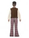 Déguisement hippie garçon (haut, gilet attaché, pantalon, médaillon et bandeau)