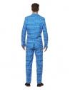 Costume papier d'emballage, Homme, bleu et blanc (veste, pantalon et cravate)