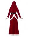 Déguisement Mère Noël, Rouge, Deluxe (robe avec capuche et ceinture noire)
