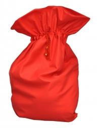 Sac Hotte de Noël rouge 60x100 cm