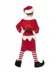 Déguisement Lutin de Noël Garçon, rouge et blanc