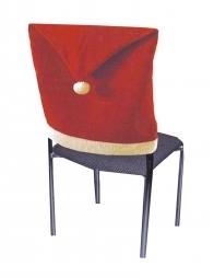 4 Housses de chaises bonnet de Noël en feutre rouge
