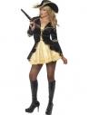 Déguisement sexy pirate femme noir et or | Déguisement