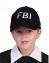 Casquette FBI Noir Enfant