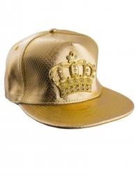 Casquette or avec couronne