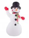 Bonhomme de neige gonflable avec 3 led - 25 cm