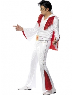 Déguisement Elvis blanc et rouge | Déguisement Homme