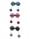 Lunettes Disco avec boules à facettes pendantes