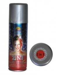 Spray pailleté rouge métallisé pour cheveux et corps - 125 ml