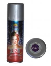 Spray pailleté violet métallisé pour cheveux et corps - 125 ml