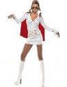 Déguisement Elvis femme blanc et rouge | Déguisement