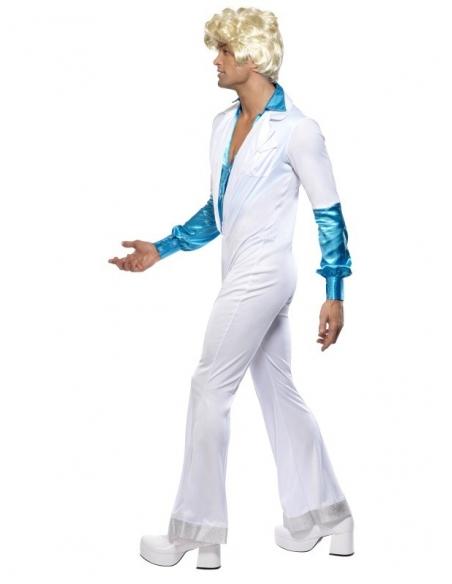 Déguisement disco bleu et blanc   Déguisement Homme