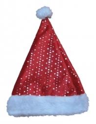 Bonnet de Noël rouge à paillettes