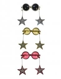 Lunettes Disco avec boucles d'oreilles étoiles pendantes
