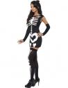 Déguisement squelette sexy avec gants   Déguisement