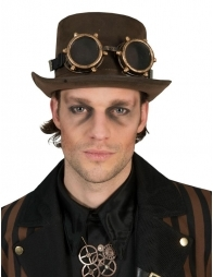 Lunettes Steampunk Or
