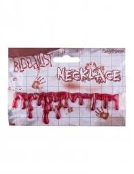Collier gouttes de sang