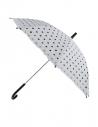 Parapluie blanc à pois noirs 63cm