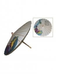 Ombrelle chinoise en papier avec motifs en couleurs - 85cm