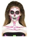 Kit latex liquide fluo squelette (4 pots de maquillage et 4 éponges)