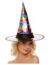 Chapeau de sorcière arc-en-ciel