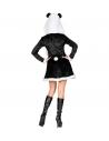 Déguisement PANDA Femme noir et blanc (robe avec capuche)