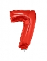 Ballon aluminium rouge chiffre - 7 - 41 cm
