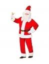 Déguisement Père Noël Super Luxe en velours (veste, pantalon, bonnet, ceinture avec boucle)