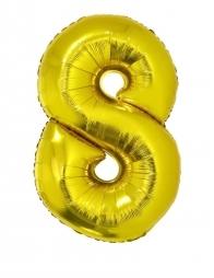 Ballon aluminium OR chiffre -8- taille 102cm