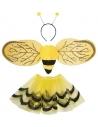 Set d'Abeille, jaune et noir, fille ( tutu, ailes, et serre-tête)