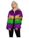 Veste à franges multicolore, femme, Fever