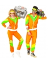 Déguisement Survêtement Année 80' Orange (veste, pantalon)