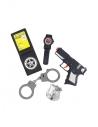 Set policier (arme, menottes, insigne et montre)