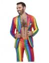 Costume homme arc-en-ciel (veste, pantalon et cravate) | Déguisement
