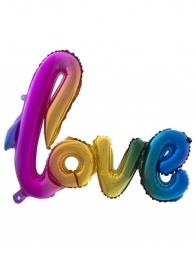 Ballon Love Arc-en-ciel (100,4x67,6 cm)