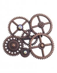 Broche Steampunk en Métal- 7 x 6 cm
