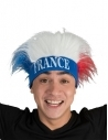 Bandeau avec perruque bleu, blanc, rouge - France