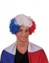 Perruque bleu, blanc, rouge - France