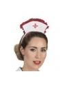 Déguisement infirmière rouge et blanc (robe et coiffe)