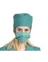 Déguisement Femme chirurgien vert (robe, calot et masque)