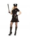 Déguisement Policière moulant (robe, ceinture, cravate, mitaines, chapeau)